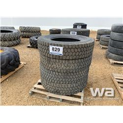 (4) MICHELIN XDS2 11R24.5 TRUCK TIRES