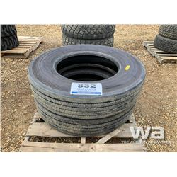 (2) BRIDGESTONE R250 11R24.5 TRAILER TIRES