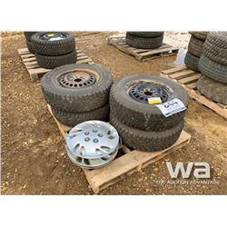(4) HANCOOK 215/70R15 TIRES & RIMS
