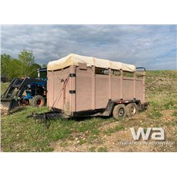 1992 U-BILT T/A STOCK TRAILER