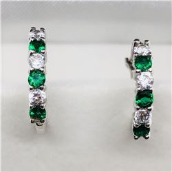 SIMULATED EMERALD EARRINGS