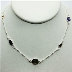 AMETHYST GARNET CITRINE NECKLACE