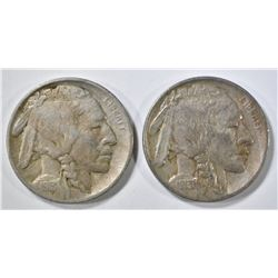 1913-P,D TYPE 1 BUFFALO NICKELS XF