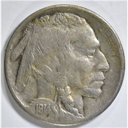 1914-S BUFFALO NICKEL VF