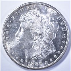 1886-S MORGAN DOLLAR, CH BU SUPER FLASHY