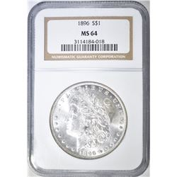 1896 MORGAN DOLLAR, NGC MS-64