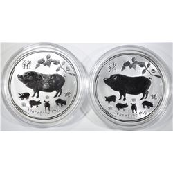 2-2019 AUSTRALIA 1oz SILVER YEAR OF THE PIG $1.00