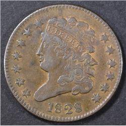 1828 HALF CENT  AU