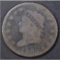 1809 LARGE CENT  GOOD