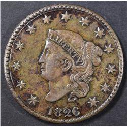 1826 LARGE CENT  BU
