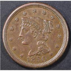 1850 LARGE CENT  BU