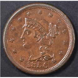 1856 LARGE CENT  BU RB