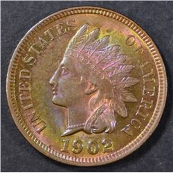 1902 INDIAN CENT  GEM BU  COLOR!