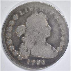 1796 BUST DOLLAR VG   RIM BUMP