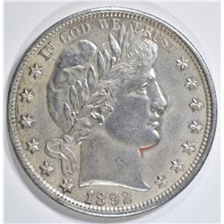 1892 BARBER HALF DOLLAR   BU