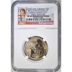2014-D SACAGAWEA DOLLAR  NGC SP-69 ENHANCED FINISH