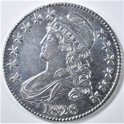 1828 BUST HALF DOLLAR  CH AU