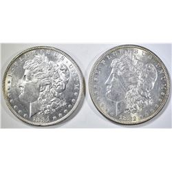 1881-O & 82 MORGAN DOLLARS BU