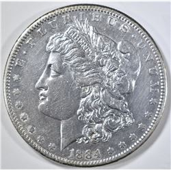 1884-S MORGAN DOLLAR AU