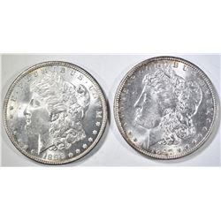 1896 & 97 MORGAN DOLLARS CH BU