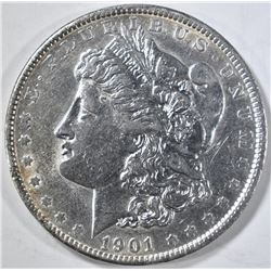 1901 MORGAN DOLLAR CH AU CLEANED