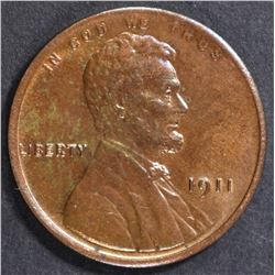 1911 LINCOLN CENT  GEM BU  BN