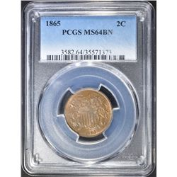 1865 2 CENTS  PCGS  MS-64 BN