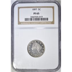 1897 LIBERTY HEAD NICKEL  NGC PF-65