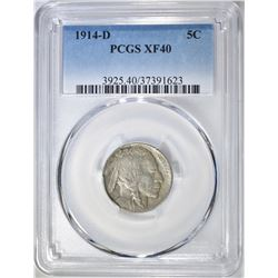 1914-D BUFFALO NICKEL  PCGS XF-40