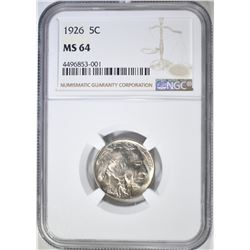 1926 BUFFALO NICKEL  NGC MS-64