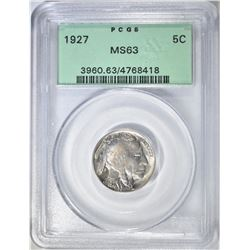 1927 BUFFALO NICKEL  PCGS MS-63