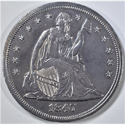1847 SEATED DOLLAR  BU