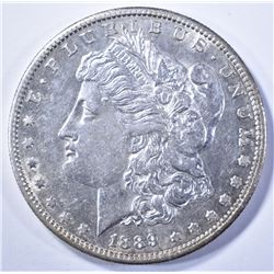 1889-S MORGAN DOLLAR, AU/BU FLASHY!