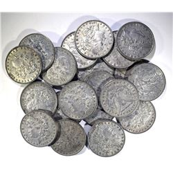 ROLL OF 20 100% ORIGINAL 1878 7F MORGAN DOLLARS: