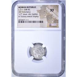 211-208 BC.  ROMAN REPUBLIC  VICTORIATUS