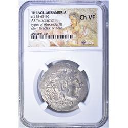 125-65 BC.  THRACE, MESAMBRIA TETRADRACHM