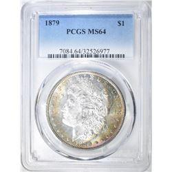 1879 MORGAN DOLLAR PCGS MS-64 RAINBOW COLOR