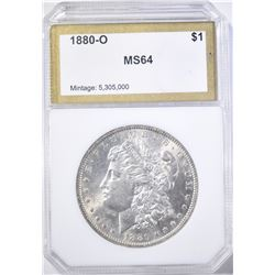 1880-O MORGAN DOLLAR, PCI CH/GEM BU
