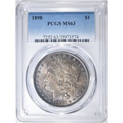 1898 MORGAN DOLLAR  PCGS MS-63