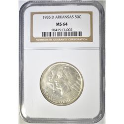 1935-D ARKANSAS COMMEM HALF DOLLAR  NGC MS-64
