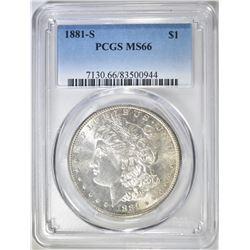 1881-S MORGAN DOLLAR   PCGS MS-66