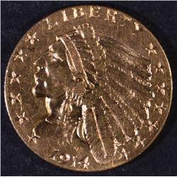 1914-D $2.5 GOLD INDIAN CH BU BETTER DATE