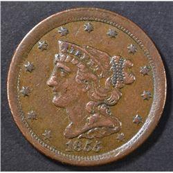 1855 HALF CENT AU