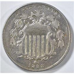 1883 SHIELD NICKEL CH AU