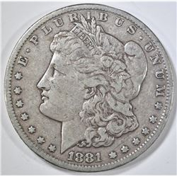 1881-CC MORGAN DOLLAR VF/XF