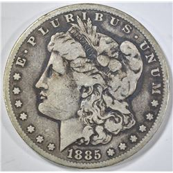 1885-CC MORGAN DOLLAR FINE