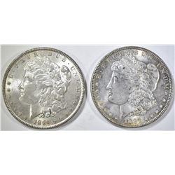 1886 & 87 MORGAN DOLLARS CH BU