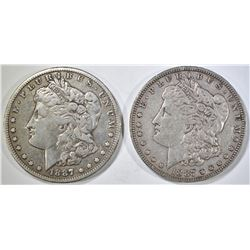 1887-O,S MORGAN DOLLARS XF