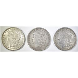 1888-P,O, 89 MORGAN DOLLARS XF-AU
