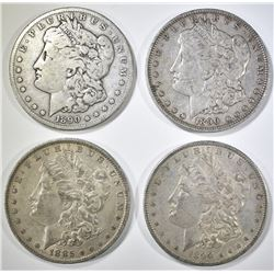 1885-O, 90-P,O,S MORGAN DOLLARS